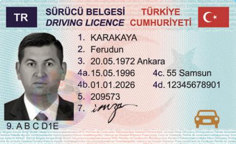 yeni ehliyet belgesi